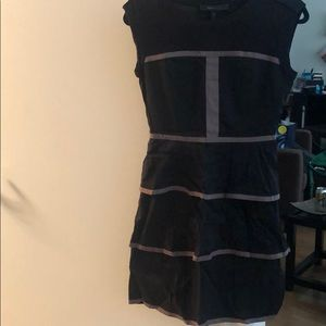 New with tags black ruffle dress